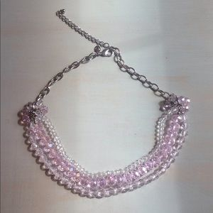 *5 for $25* Pink/clear necklace